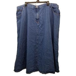 Denim 24 7 Skirt Plus Long Modest Church Pockets